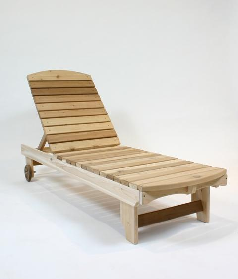 Click to enlarge image  - Garden Chaise Lounge - Perfect for laying out in the sun or shade; multiple position for comfort