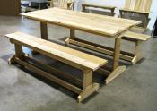Click to enlarge image  - Trestle Style Picnic Table - Enjoy your meal in your garden in great style