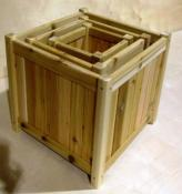 Click to enlarge image  - Cedar Planter Boxes - Stylish featuring 2  styles and  5 different sizes